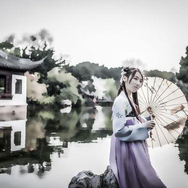 2018-03-25 汉服唯美人像 古漪园_摄影师江南小生的返片
