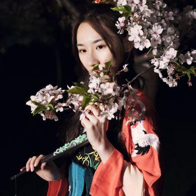 2018-03-31 公园夜景 汉服?;ㄈ讼?静安雕塑公园_摄影师郭小皓的返片
