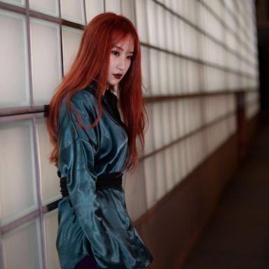 2018-07-25 火红色的少女 南京西路PORTS旗舰店街拍_摄影师正常值的返片